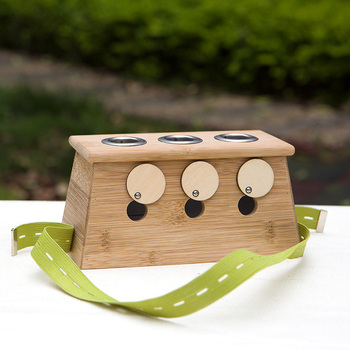 Three Holes Moxibustion Bamboo Box Moxa Burner for Acupuncture Massage Device Beauty Health Care