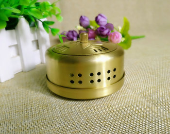 Copper box portable massage burner Moxibustion instrument with 54 moxa roll 26078